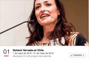 Nohemi Hervada en Chile