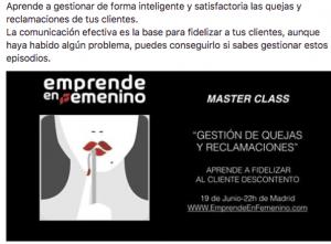 master class emprende en femenino