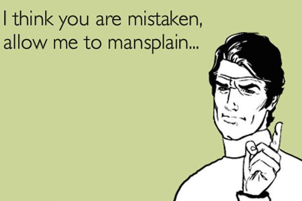 Mansplaining y manswriting